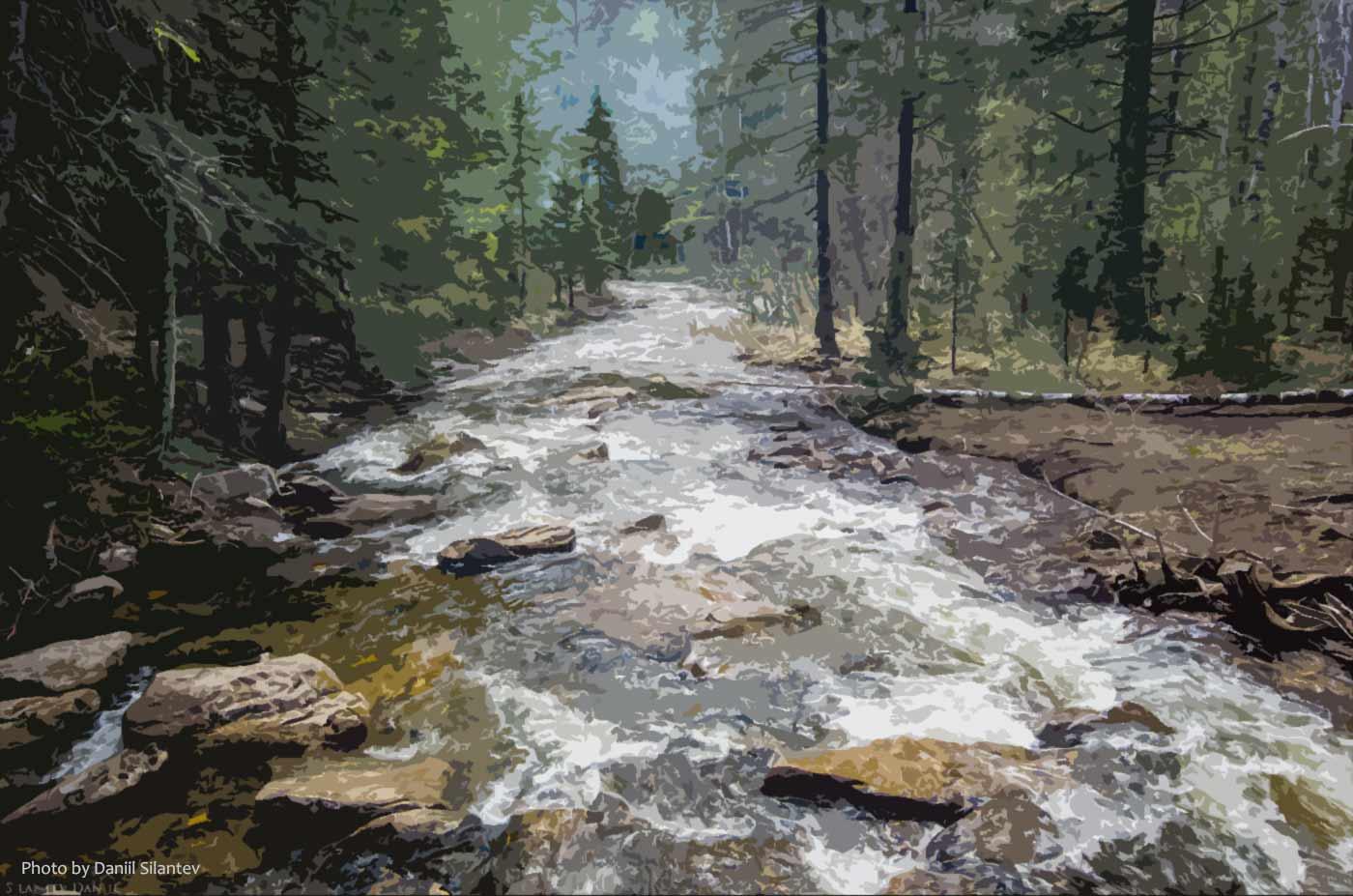 Stylized river